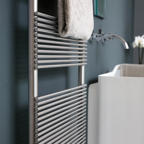 Tubes Basics IXSteel Towel Warmer - 1195 High - ELECTRIC/WATER 1