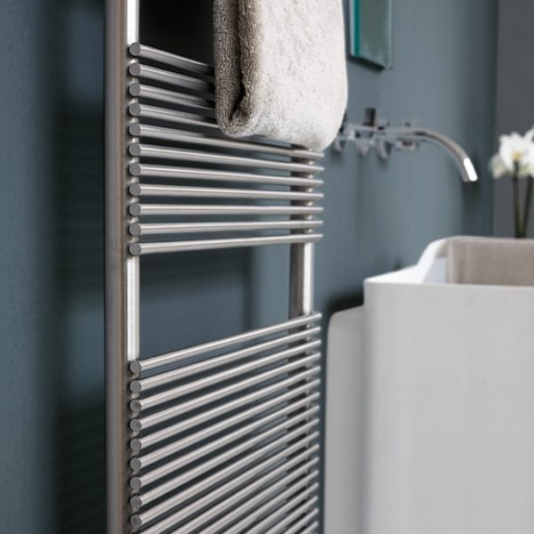 Tubes Basics IXSteel Towel Warmer - 1195 High - ELECTRIC/WATER 4