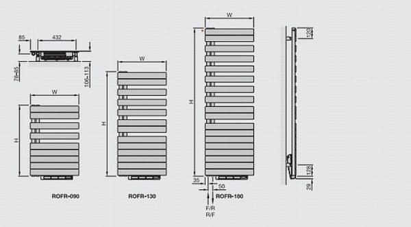Zehnder Roda Towel Radiator 4