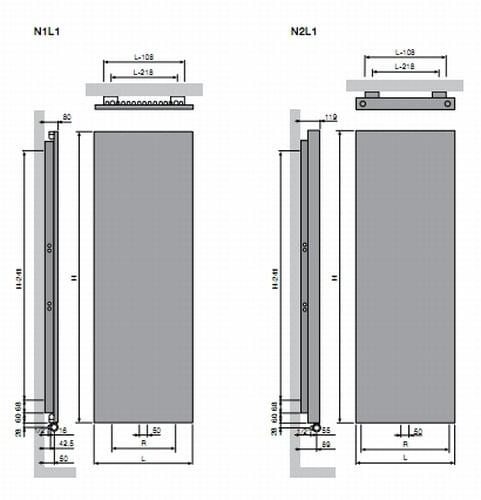 Vasco Niva Vertical Stainless Steel 6
