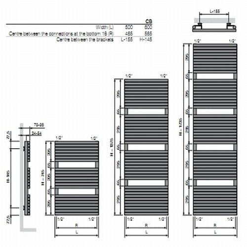 Vasco Carre Bathroom radiator 4
