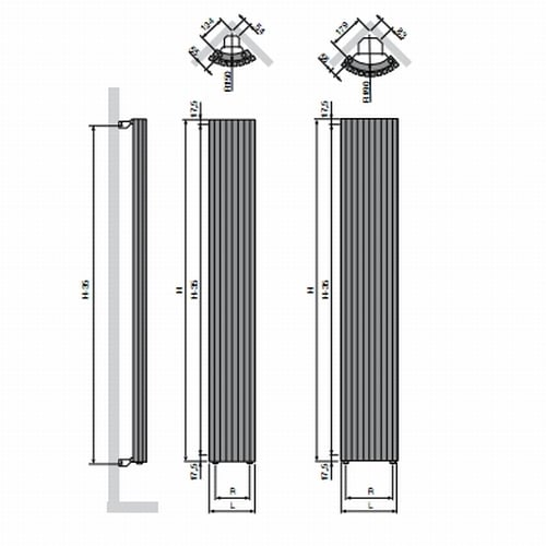Vasco Carre Quater Round radiator 3