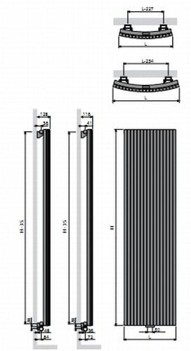 Vasco Carre Round radiator 3