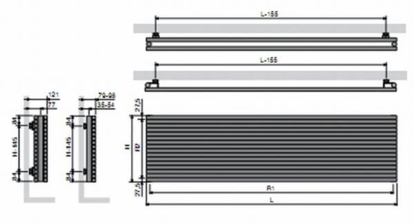 Vasco Carre Horizontal Single - 2200mm wide 4