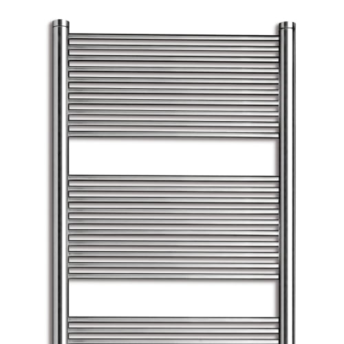 Vasco Malva Straight Radiators - Stainless Steel 2