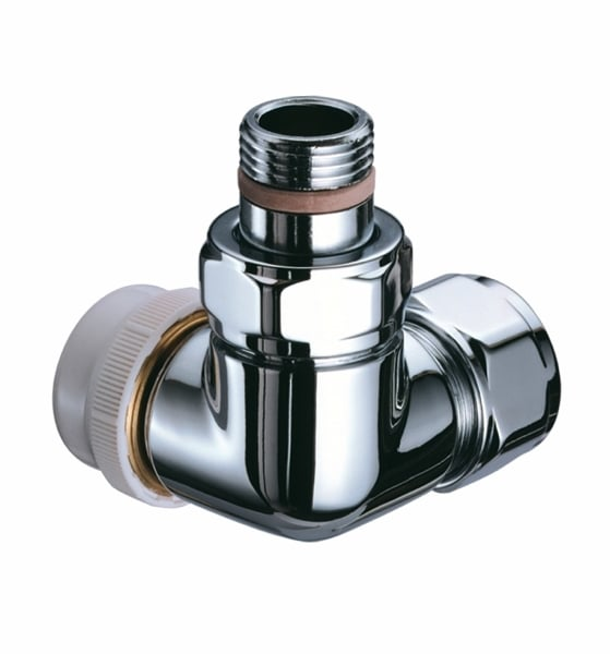 TRV Series B - Corner - RIGHT hand flow - CHROME 2