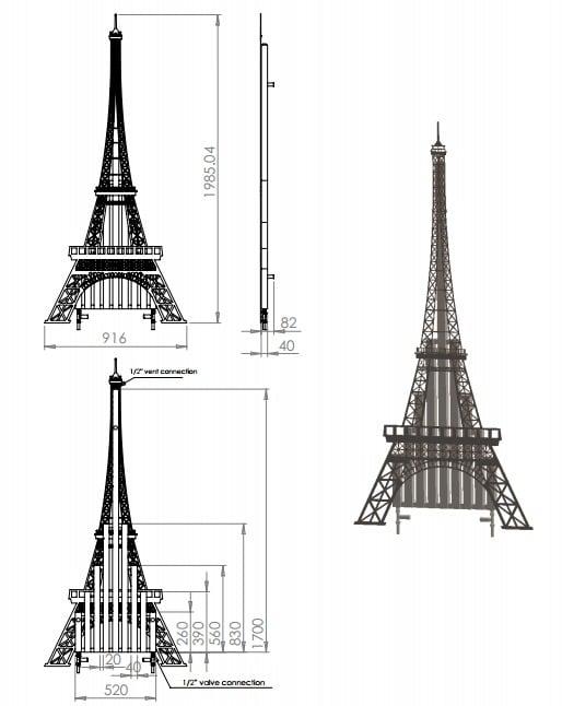 Eiffel Tower Radiator 8
