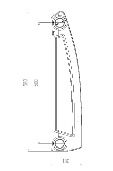 Styl Cast Iron Radiators - Wet System 8
