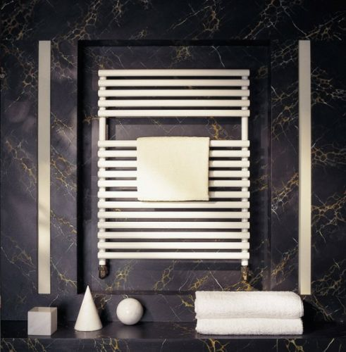 Bisque Straight Fronted Towel Radiator 2