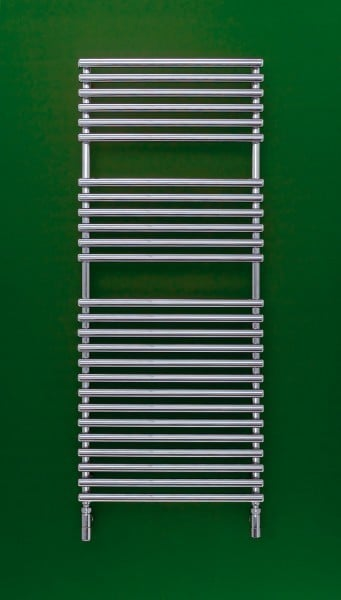 Bisque Straight Fronted Towel Radiator 3