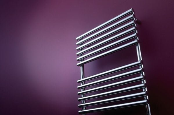 Bisque Straight Fronted Towel Radiator 1