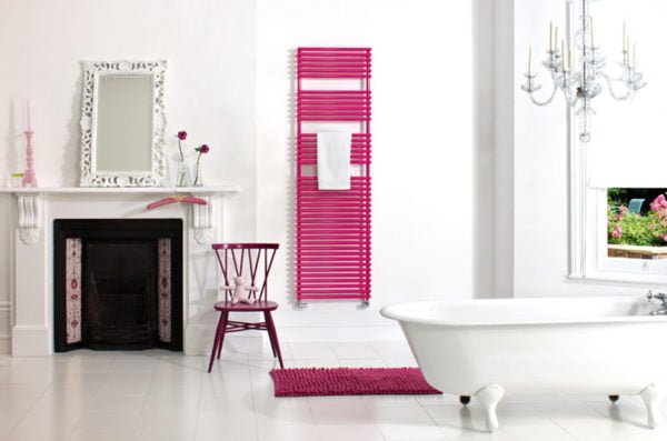Bisque Straight Fronted Towel Radiator 8