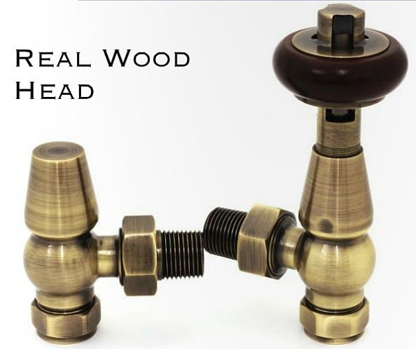 Traditional Thermostatic Valve with Wooden Head 1